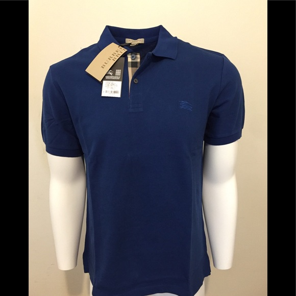 0ff7a7de7 Burberry Men s Classic Polo Shirt Bright Navy Blue